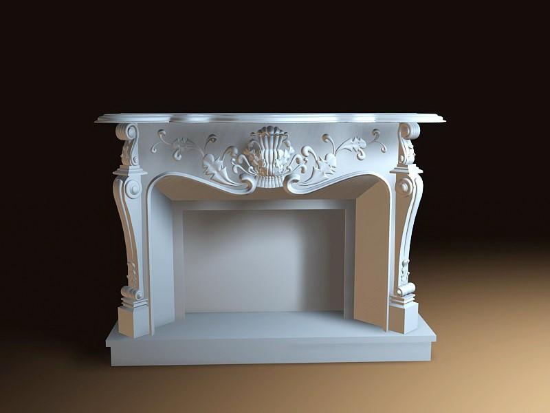 Vintage Fireplace 3d rendering