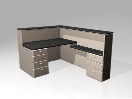 Office Furniture Reception Desk 3d model preview