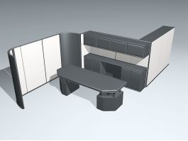 Open Office Space 3d model preview