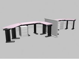 Office Workstation Table 3d preview