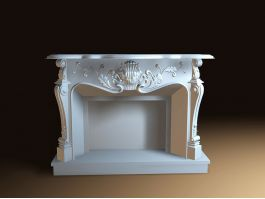 Vintage Fireplace 3d preview
