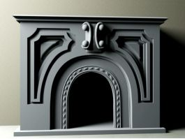 Traditional Fireplace 3d preview