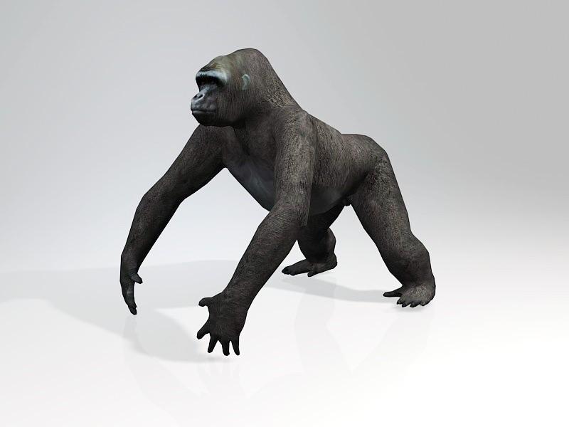 Black Gorilla 3d rendering