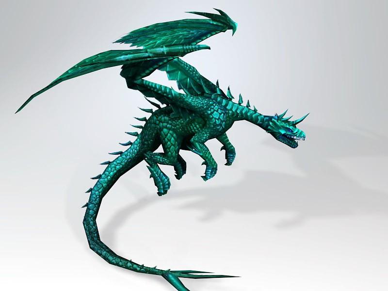 Blue Dragon 3d rendering