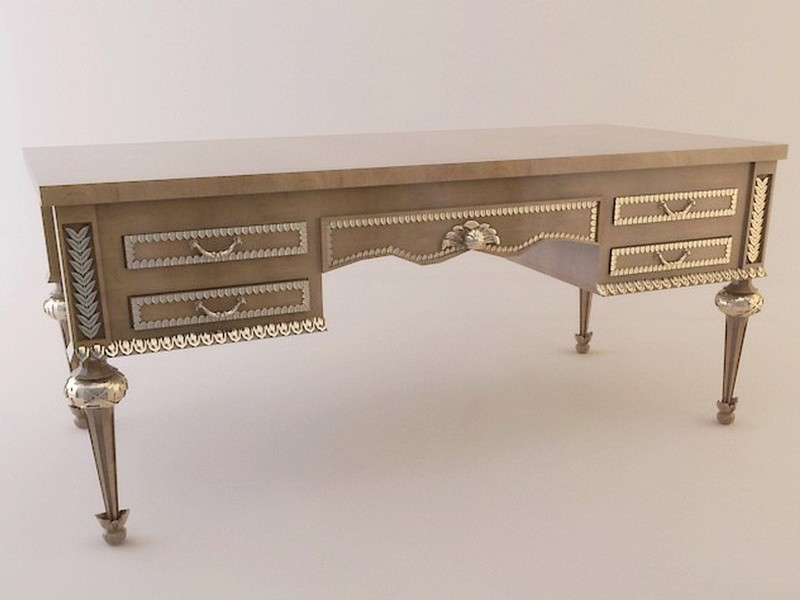 Traditional Writing Desk 3d rendering