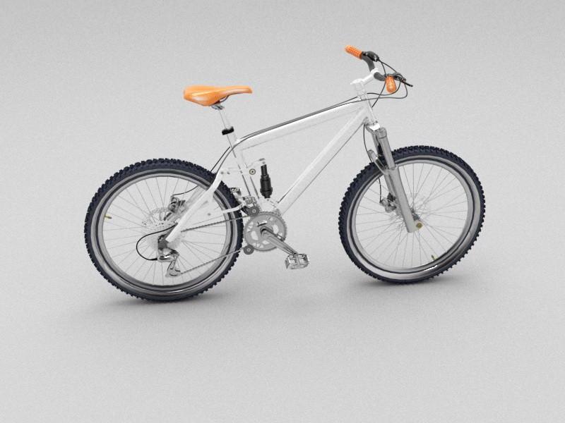 21 Speed Mountain Bike 3d rendering