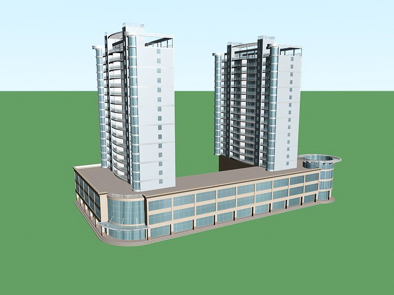 Residential Complex 3d rendering