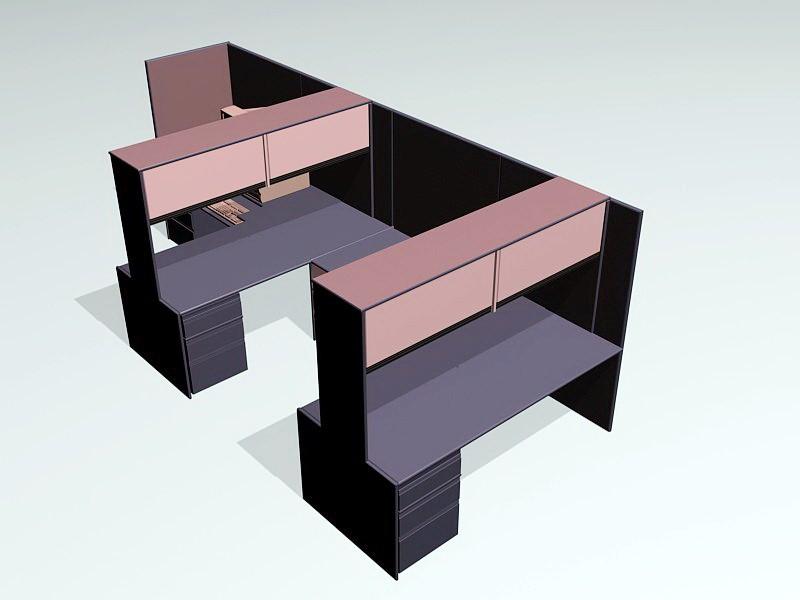 Workstation With Storage 3d rendering