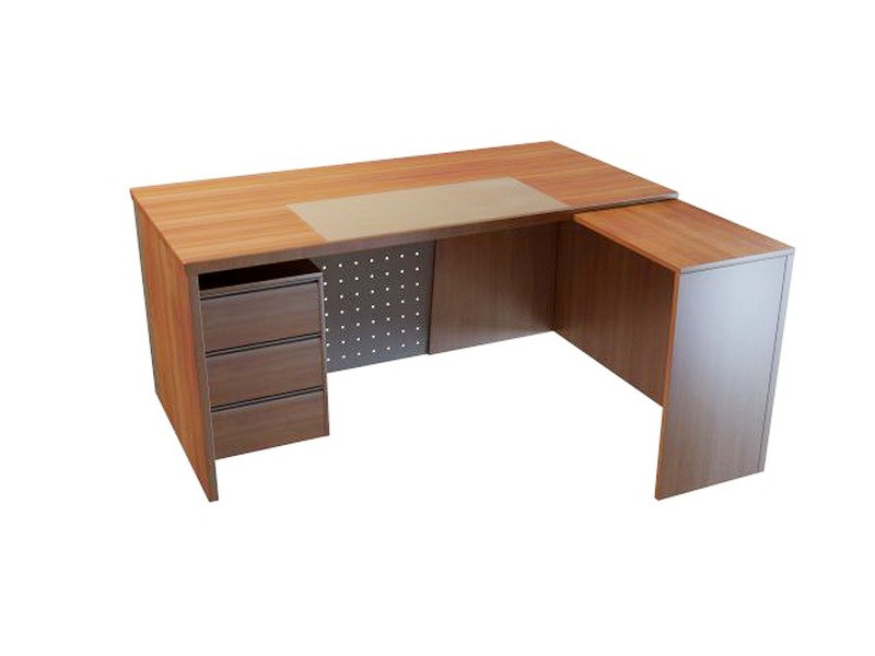 L-shaped Corner Desk 3d rendering
