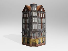 Low Poly 19th Century Commercial Building 3d preview