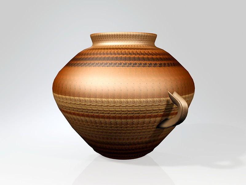 Pottery Pot 3d rendering