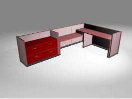 Office Workstation Desks 3d preview