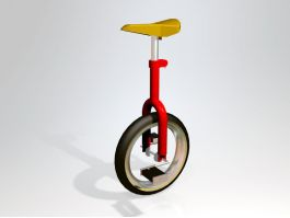 Red Unicycle 3d preview
