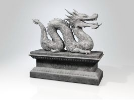 Ancient Chinese Dragon Sculpture 3d preview