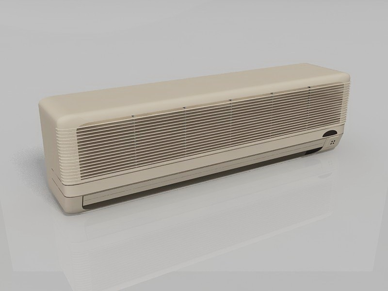 Ductless Wall Unit Air Conditioner 3d rendering