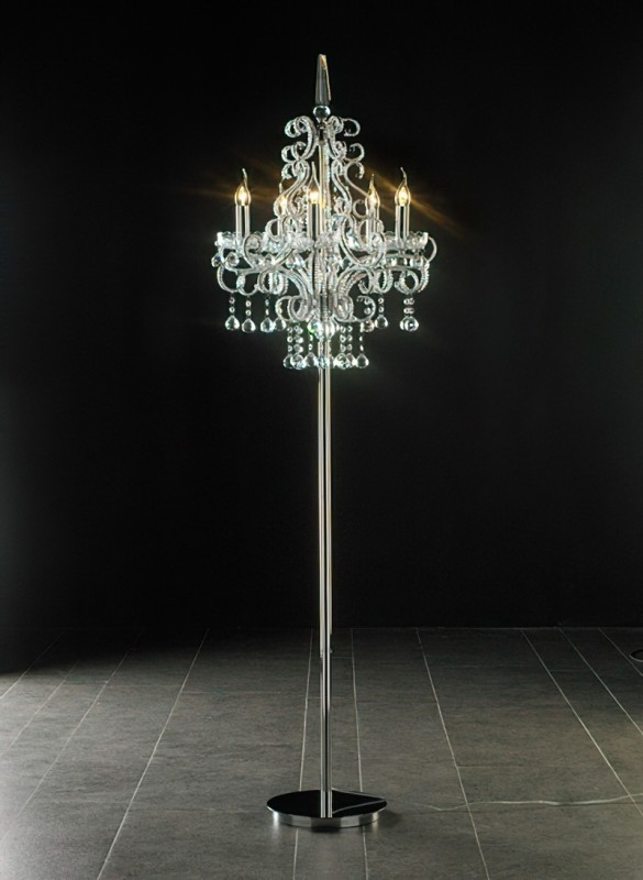 Chandelier Floor Lamp 3d rendering