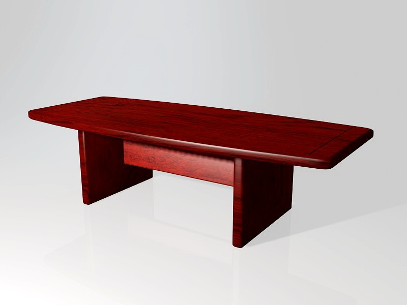 Boat Shaped Conference Table 3d rendering