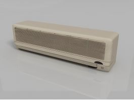 Ductless Wall Unit Air Conditioner 3d model preview