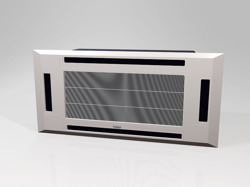 Window Mounted Air Conditioner 3d rendering