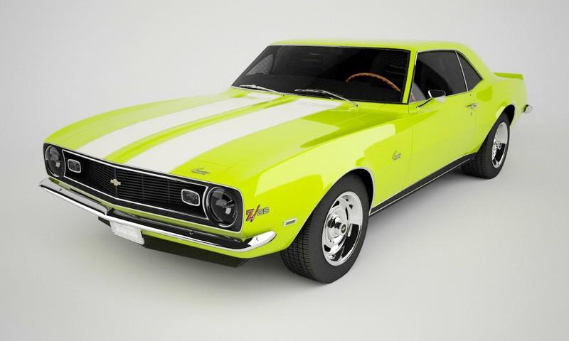 Chevrolet Camaro Muscle Car 1967 3d rendering