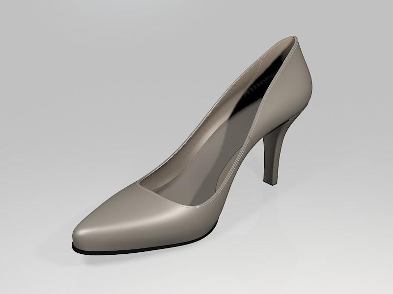 High Heel Dress Shoes 3d rendering