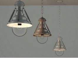 Antique Industrial Ceiling Lamp 3d preview