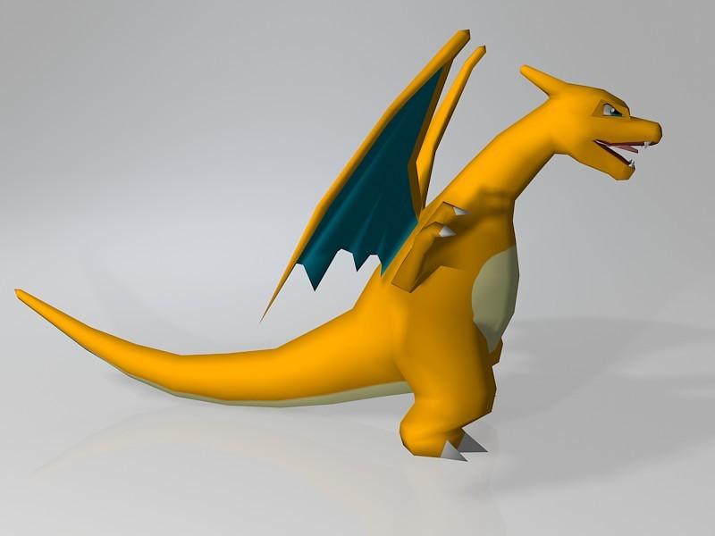 Pokemon Red Charizard 3d rendering