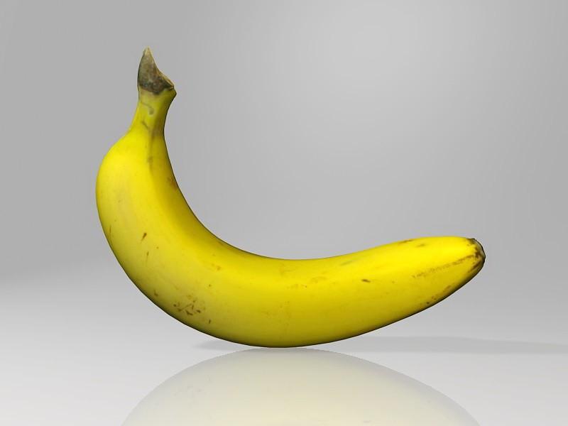 Cavendish Banana 3d rendering