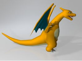 Pokemon Red Charizard 3d preview