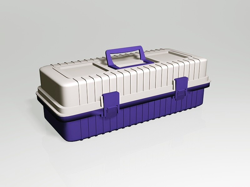 Plastic Tool Box 3d rendering