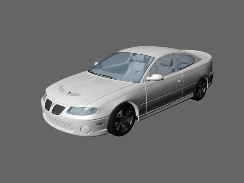 2006 Pontiac GTO 3d rendering