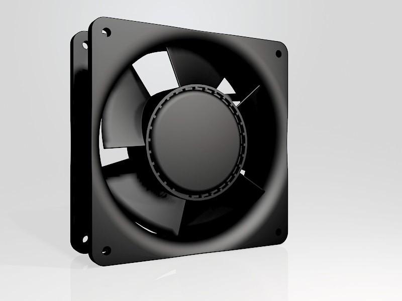 CPU Cooler Fan 3d rendering