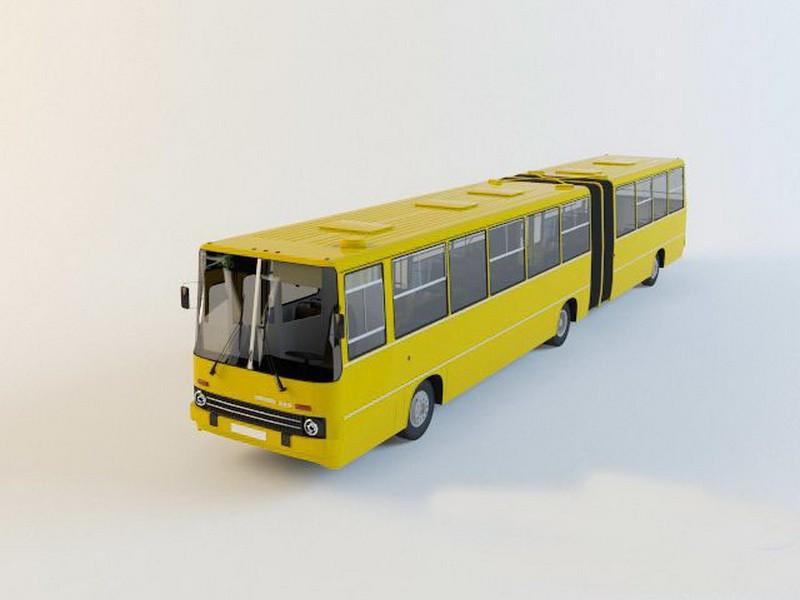 Ikarus 280 Articulated Bus 3d rendering