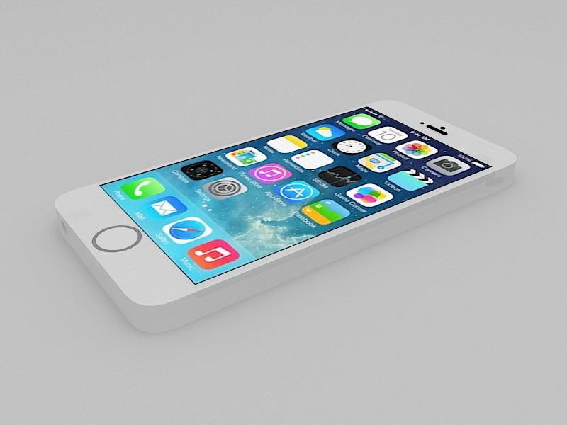 Apple iPhone 5S 3d rendering