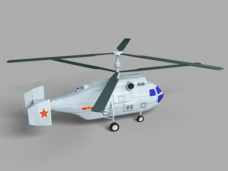 Kamov Ka-27 Military Helicopter 3d rendering