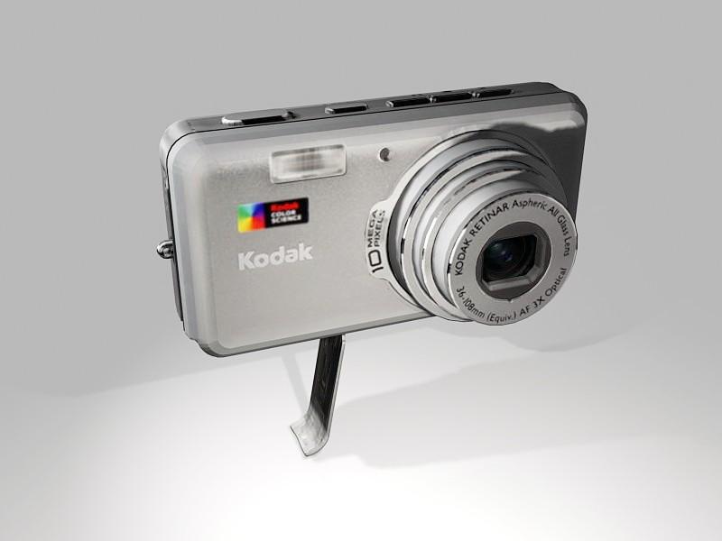 Animated Kodak EasyShare V1003 Digital Camera 3d rendering