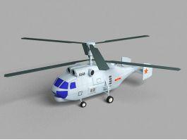 Kamov Ka-27 Military Helicopter 3d preview