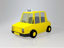 Low Poly Taxi Car 3d preview