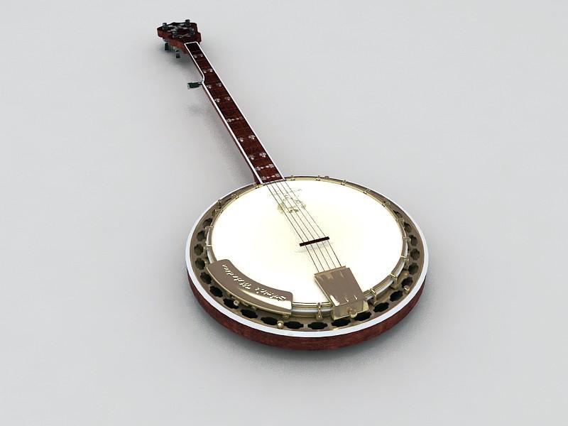 Chinese Ruan Instrument 3d rendering
