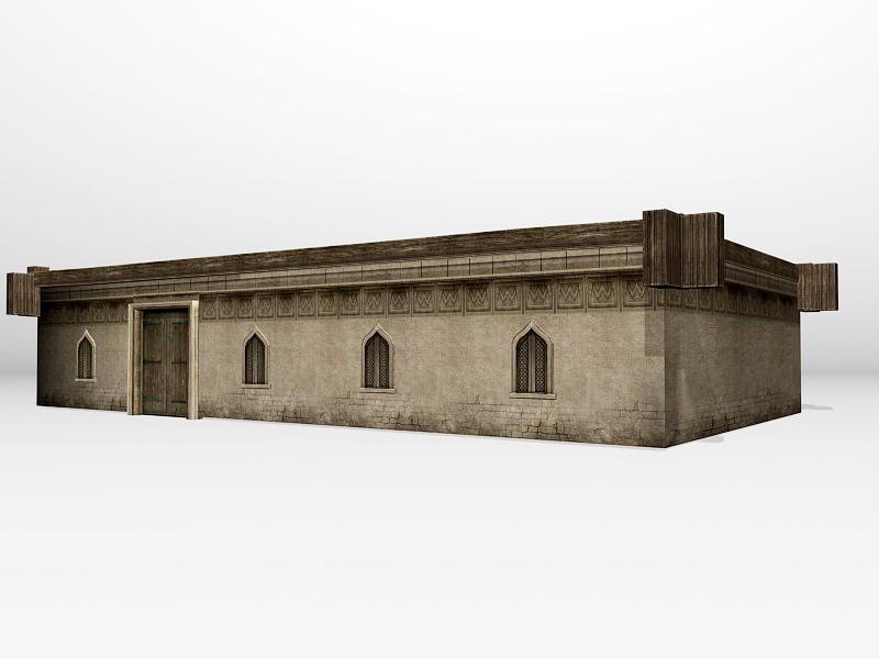 Old Arabian Home 3d rendering