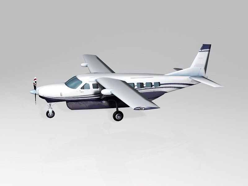 Cessna 208 Caravan Utility Aircraft 3d rendering