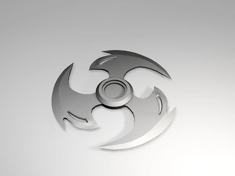 Cool Ninja Shuriken 3d rendering
