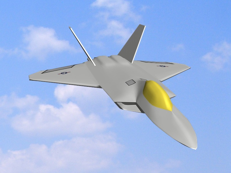 F-22 Raptor Stealth Air Superiority Fighter 3d rendering