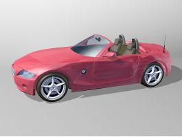 BMW Z4 Red Convertible 3d preview