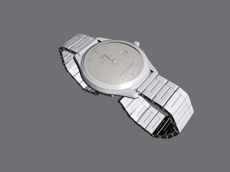 Men's Wrist Watch 3d rendering