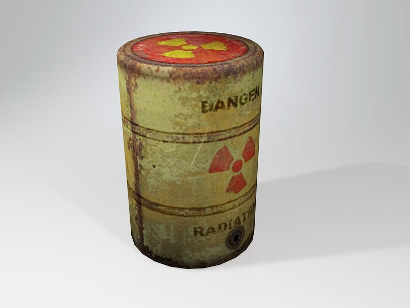 Radioactive Waste Barrel 3d rendering