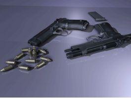 Beretta M9 Pistol & Ammo 3d preview