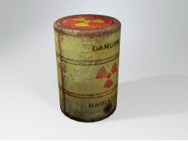 Radioactive Waste Barrel 3d preview