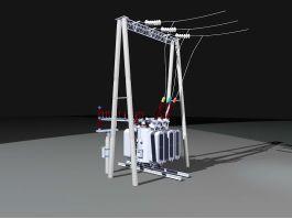 High-voltage Transformer 3d preview