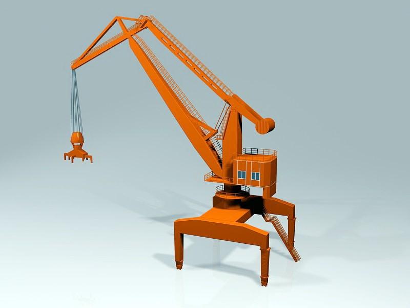 Level Luffing Crane 3d rendering